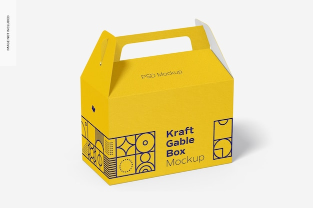 Kraft gable box mockup