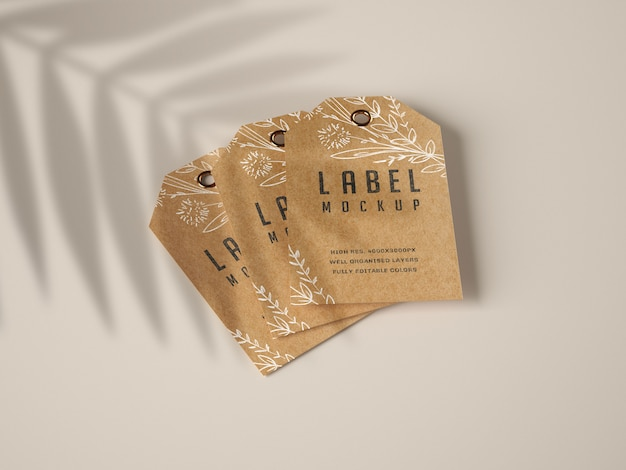 Kraft label mockup set