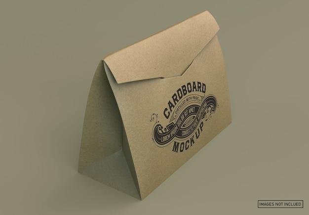 Kraft-papieren boodschappentas mockup