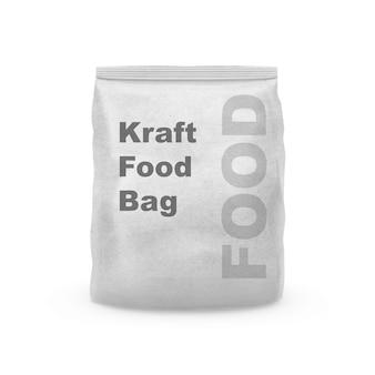 Kraft snack package mockup geïsoleerd