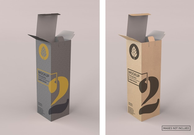 Kraftpapier wijnkistmodel