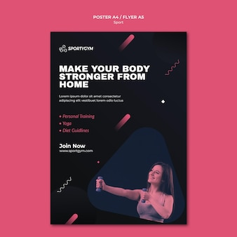 Krijg fit concept poster sjabloon