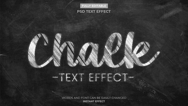 Krijt teksteffect