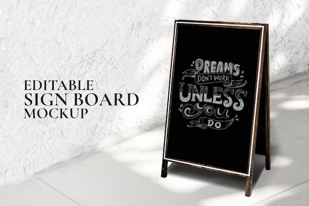 Krijtbordbord voor restaurant