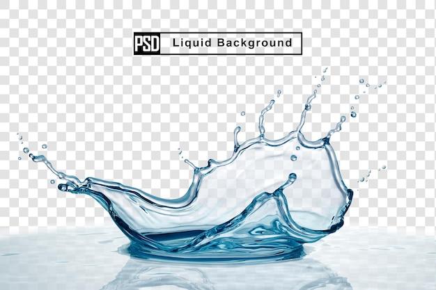 Kroon water splash geïsoleerd Premium Psd