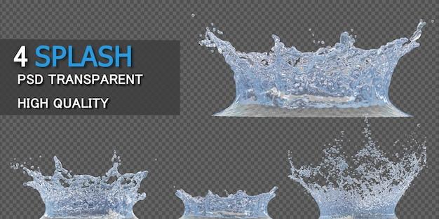 Kroon water splash transparant geïsoleerd