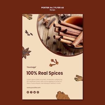 Kruiden en specerijen flyer-sjabloon