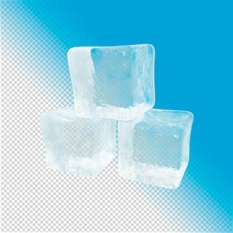 Kubussen gemaakt van ijs 3d-rendering