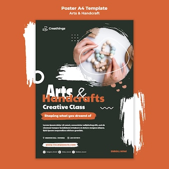 Kunst en handwerk poster sjabloon