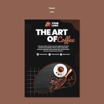 Kunst van koffie poster sjabloon