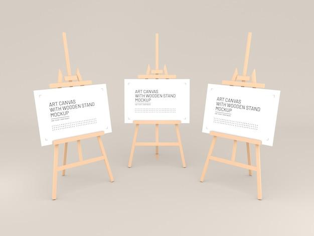 Kunstcanvas op houten schildersezelmodel
