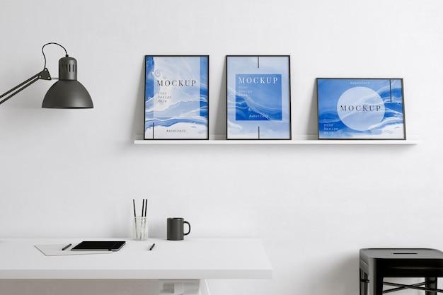Kunstenaarskamer met apparatuur