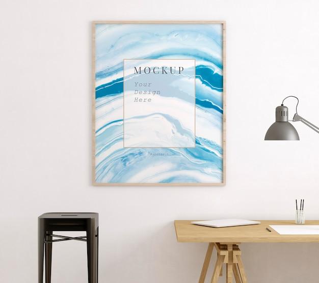 Kunstenaarskamer met frame mockup