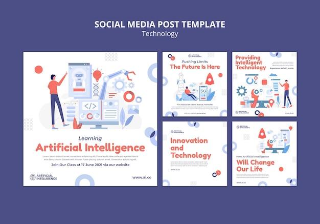 Kunstmatige intelligentie instagram-berichten