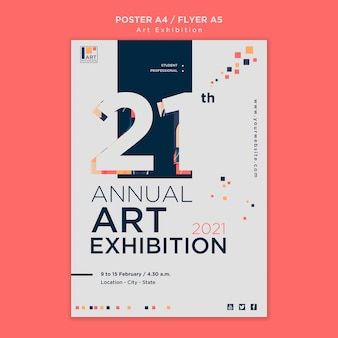 Kunsttentoonstelling concept poster sjabloon