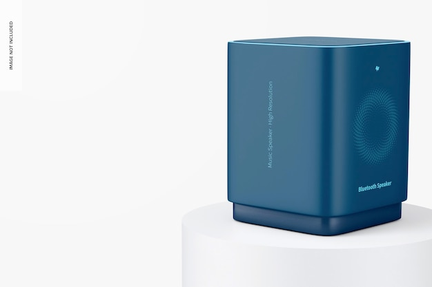 Kwadraat bluetooth-luidsprekermodel, perspectief