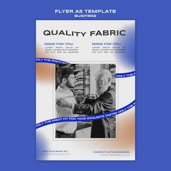 Kwaliteit stof folder sjabloon