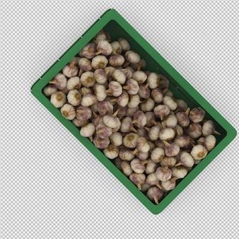 L'aglio isometrico 3d rende