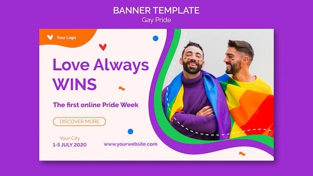L'amore vince sempre il modello di banner