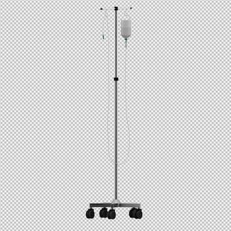 L'attrezzatura medica isometrica 3d rende