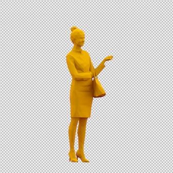 La femmina isometrica 3d rende