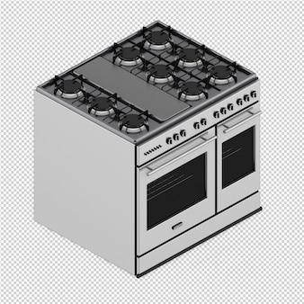 La gamma isometrica della cucina 3d rende