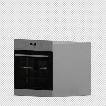 La gamma isometrica della cucina rende 3d