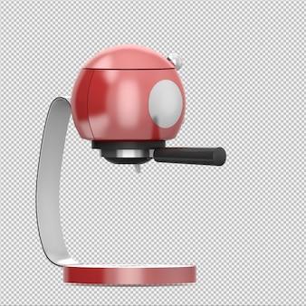 La macchina da caffè isometrica 3d rende