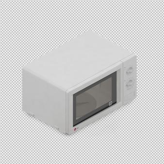 La microonda isometrica 3d rende