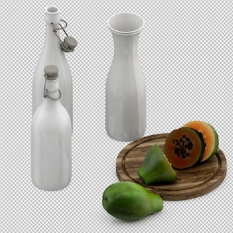 La papaia 3d rende