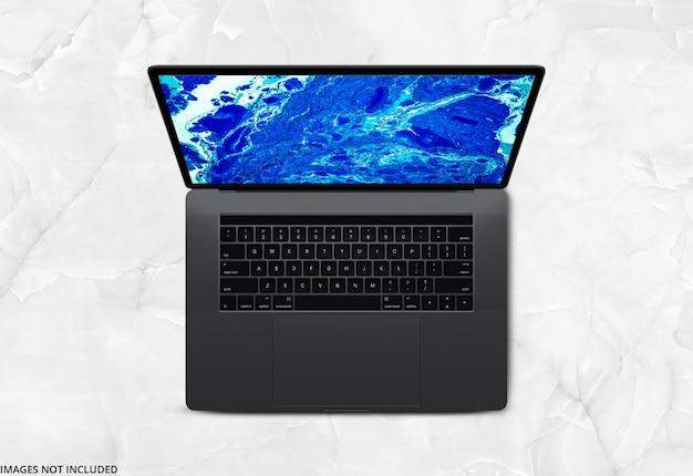 La parte superiore del laptop si imita