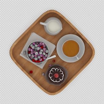 La prima colazione 3d rende