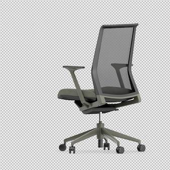 La sedia 3d dell'ufficio isolata rende