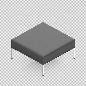 La sedia isometrica 3d delle feci del piede rende