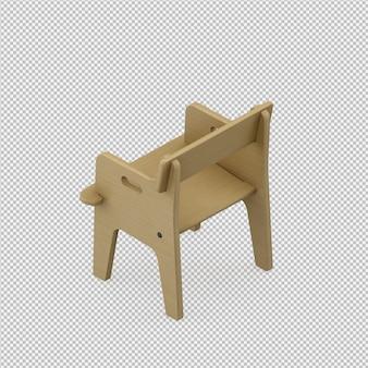 La sedia isometrica 3d rende