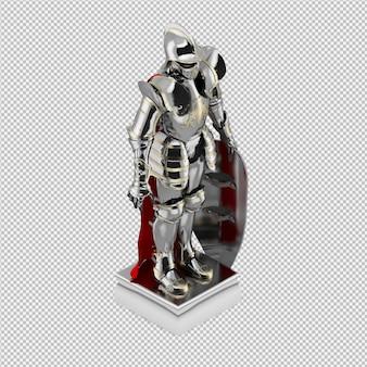 La statua isometrica 3d isolato rende