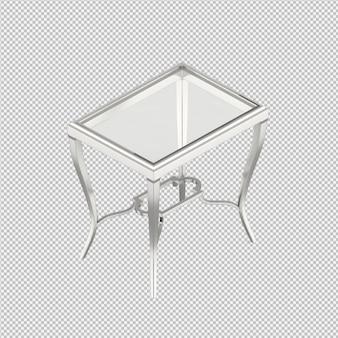 La tabella isometrica 3d rende