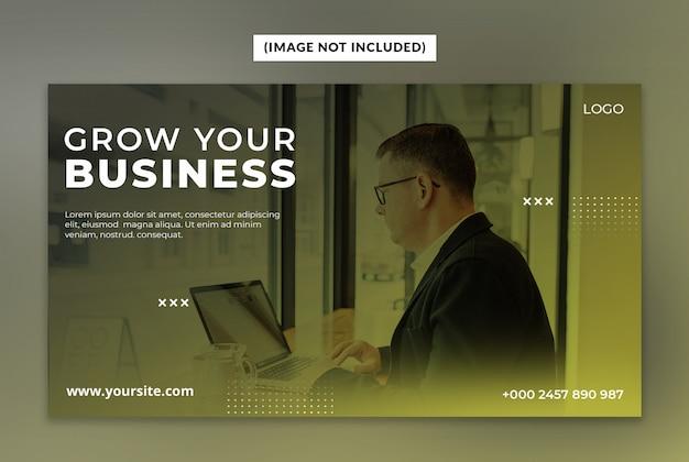 Laat uw zakelijke webbannersjabloon groeien