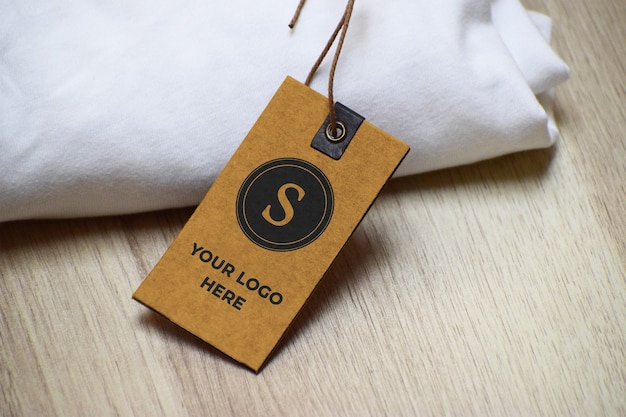 Label logo mockup sjabloon