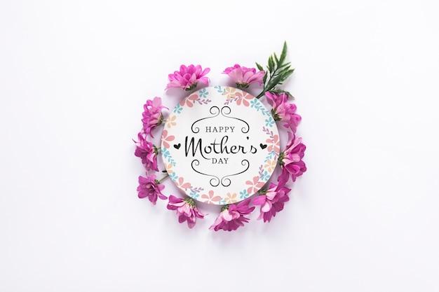 Label mockup met moederdag concept