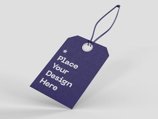 Label prijskaartje mockup