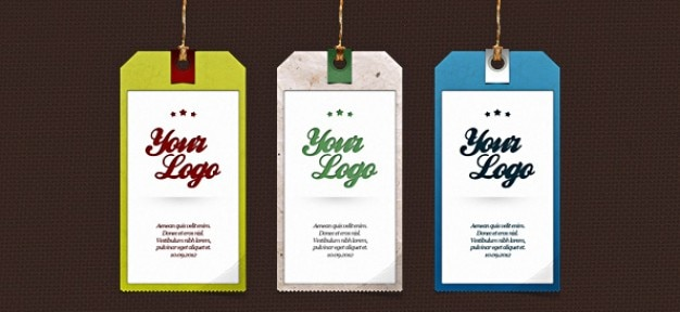 Label psd set &; tag templates