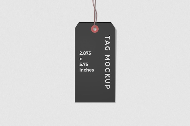 Label tag mockup bovenaanzicht