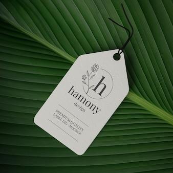 Label tag mockup-ontwerp