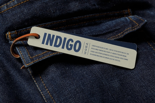 Label tag mockup-sjabloon