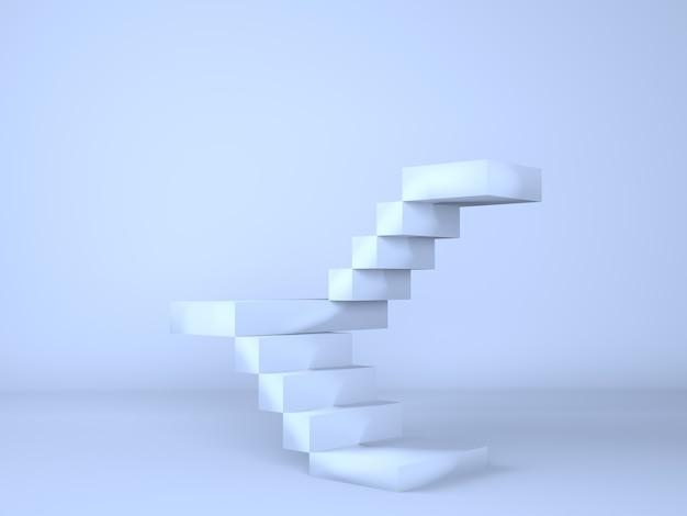 Ladder met podium voor de presentatie van nieuwe producten