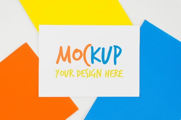 Lagen van kleuren mock-up ontwerp