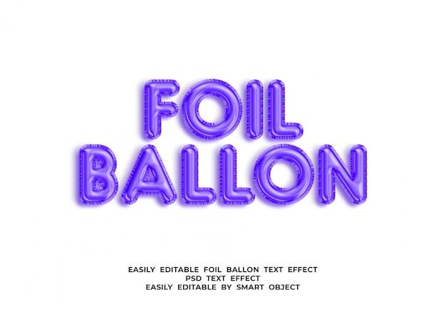 Lámina de texto de globo en estilo globo 3d