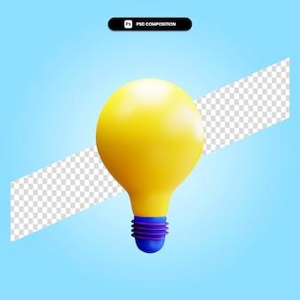 Lamp 3d render illustratie geïsoleerd