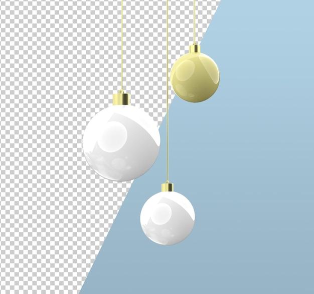 Lámpara de burbuja de navidad 3d